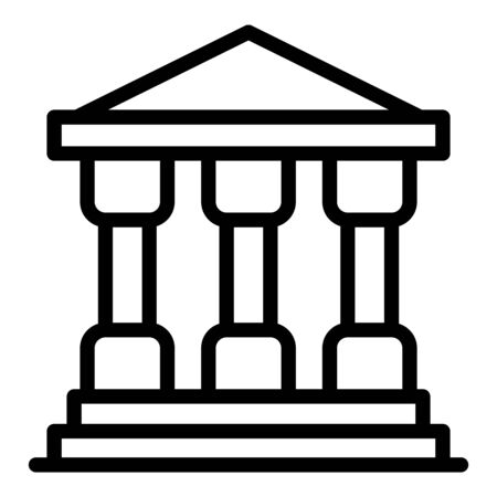 Justice building icon, outline style Stock Illustratie