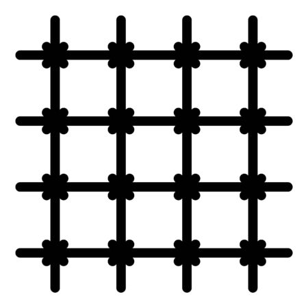 Prison room gate icon, outline style Illusztráció