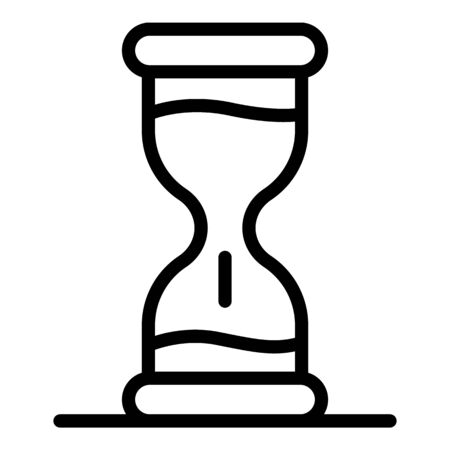 Hourglass icon, outline style