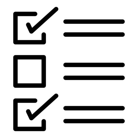 Checklist icon. Outline checklist vector icon for web design isolated on white background 일러스트