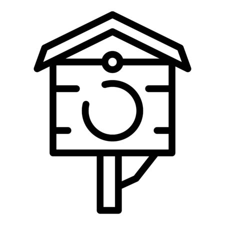 Bird house icon. Outline bird house vector icon for web design isolated on white background