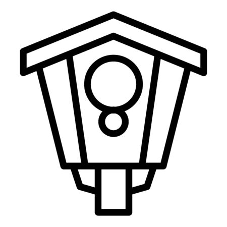 Outdoor bird house icon. Outline outdoor bird house vector icon for web design isolated on white background
