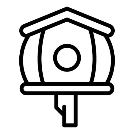 Big bird house icon. Outline big bird house vector icon for web design isolated on white background Illustration