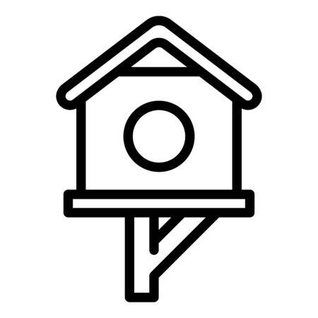 Season bird house icon. Outline season bird house vector icon for web design isolated on white background 일러스트