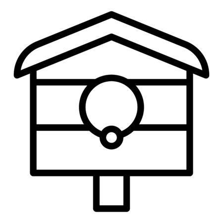 Backyard bird house icon. Outline backyard bird house vector icon for web design isolated on white background
