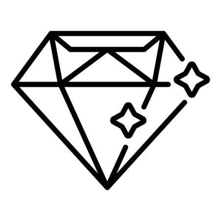 Diamond stone icon, outline style