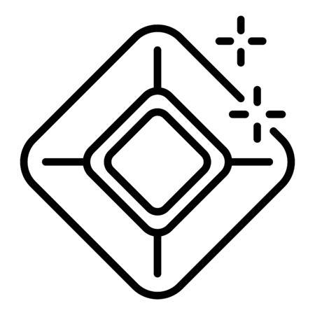 Jewel carat icon, outline style