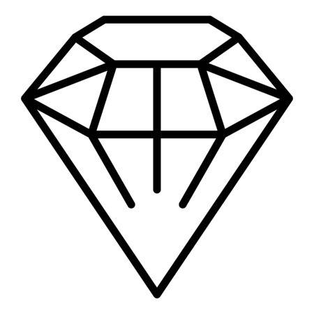 Fashion diamond icon, outline style