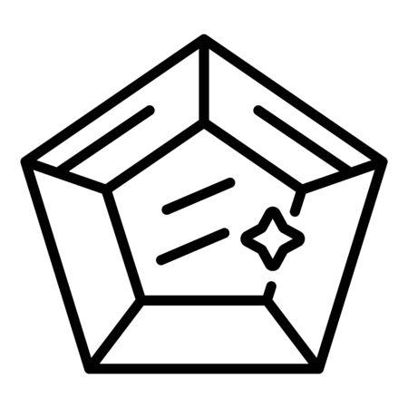 Gemstone icon, outline style