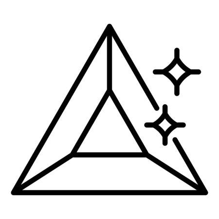 Triangular jewel icon, outline style