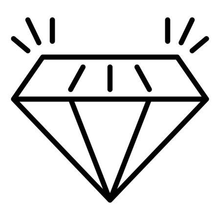 Expensive diamond icon, outline style