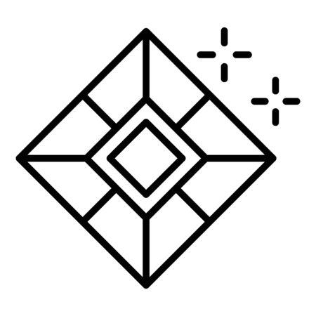 Royal jewel icon, outline style Иллюстрация