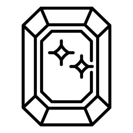 Value shine gemstone icon, outline style