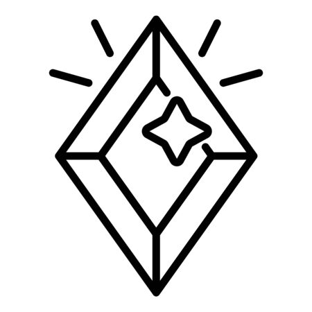 Rich jewel icon, outline style