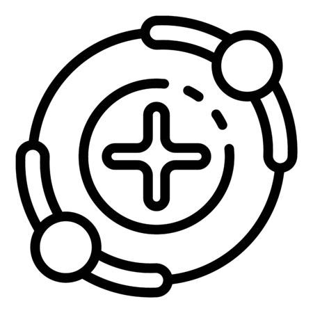Friendship celebration icon, outline style