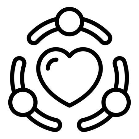 True friendship icon, outline style