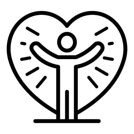 Friend full of love icon. Outline friend full of love vector icon for web design isolated on white background Stock Illustratie