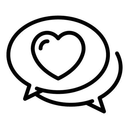 Friends chat icon, outline style