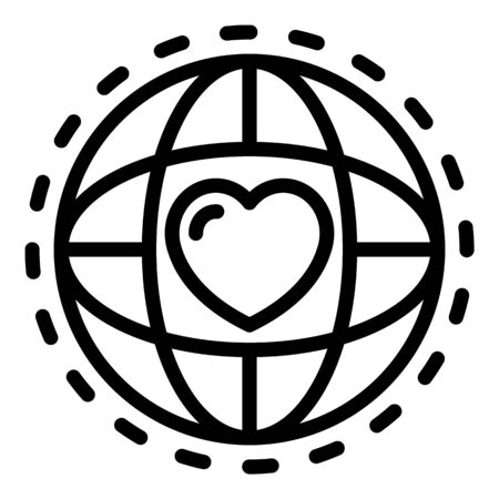 Global friendship icon, outline style