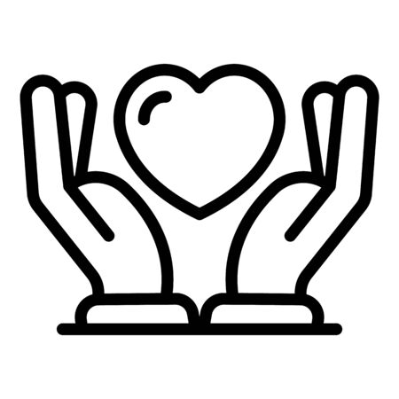 Keep true love icon, outline style