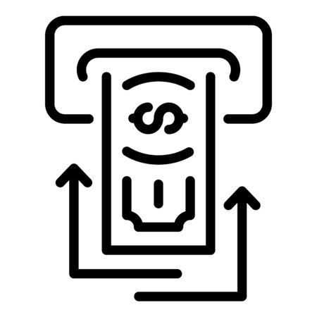 Atm cash send icon. Outline atm cash send vector icon for web design isolated on white background Reklamní fotografie - 134903698