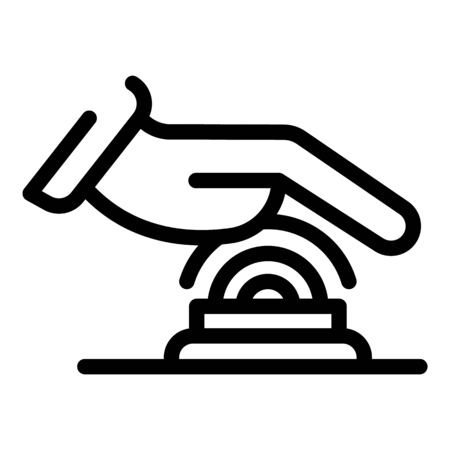 Hand touch authentication icon, outline style 向量圖像