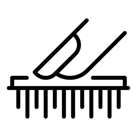 Fingerprint id icon. Outline fingerprint id vector icon for web design isolated on white background
