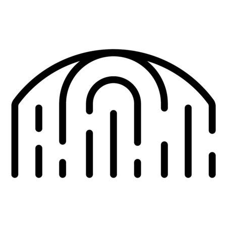 Biometric identification icon, outline style Illustration
