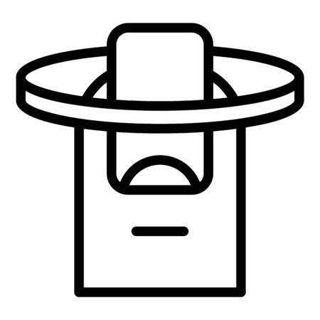Fingerprint recognition icon. Outline fingerprint recognition vector icon for web design isolated on white background