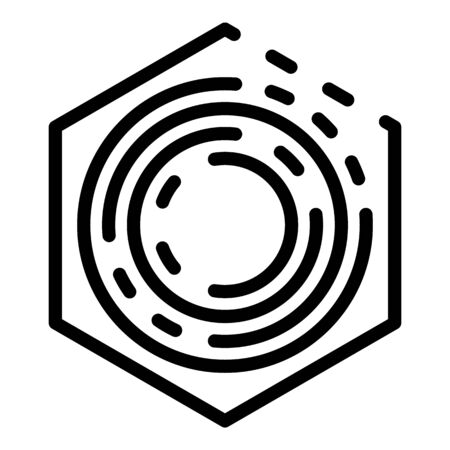 Interior camera security icon, outline style