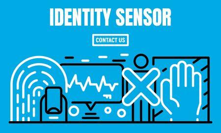 Identity sensor banner, outline style