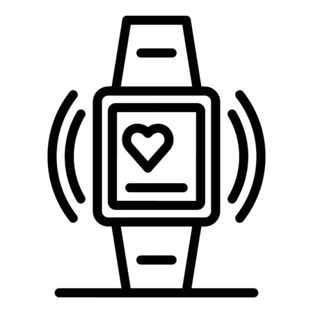 Smartwatch icon, outline style