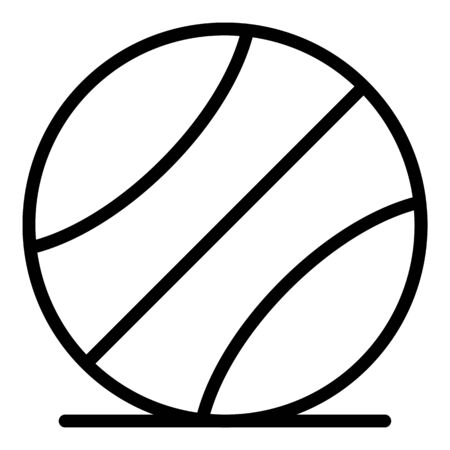 Basketball ball icon, outline style