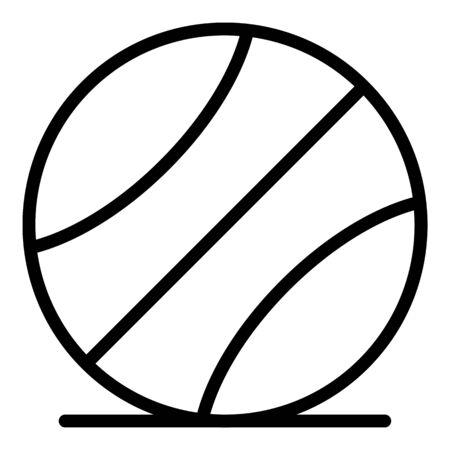 Icono de pelota de baloncesto, estilo de contorno