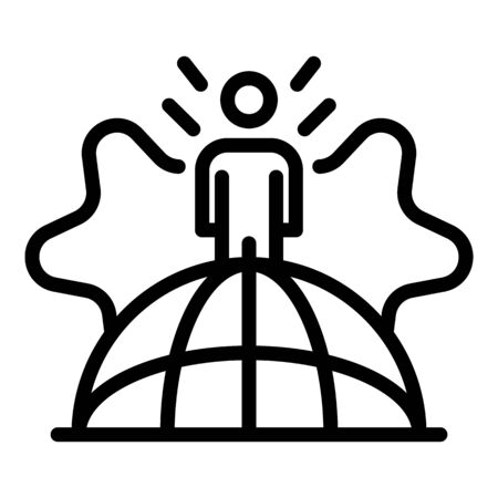 Global campaign icon, outline style Illustration