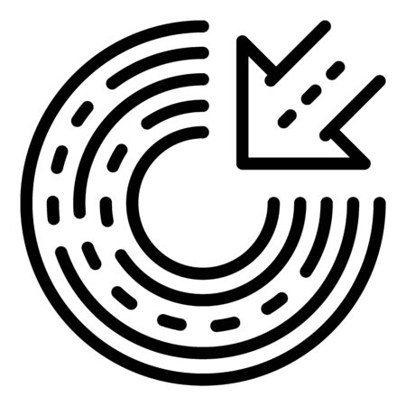 Campaign target icon, outline style