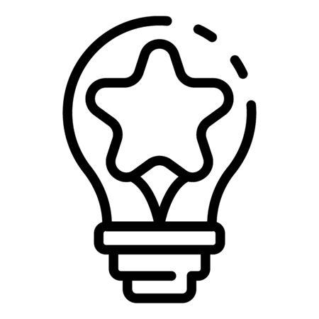 Bulb idea campaign icon, outline style