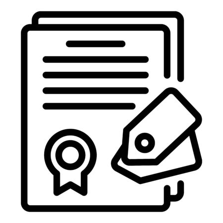 Diploma campaign icon, outline style