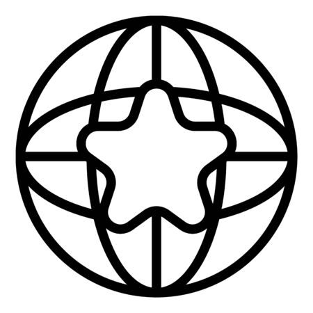 Global adword icon, outline style