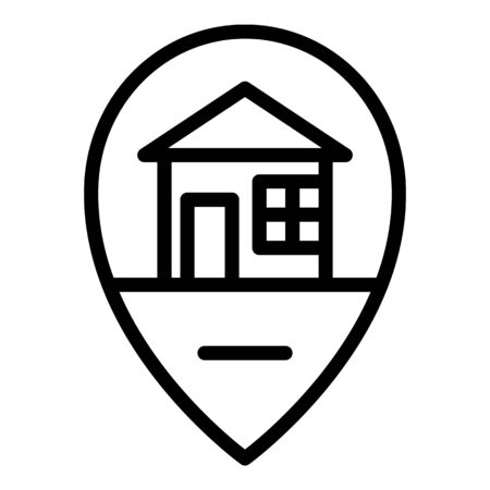 House location icon, outline style