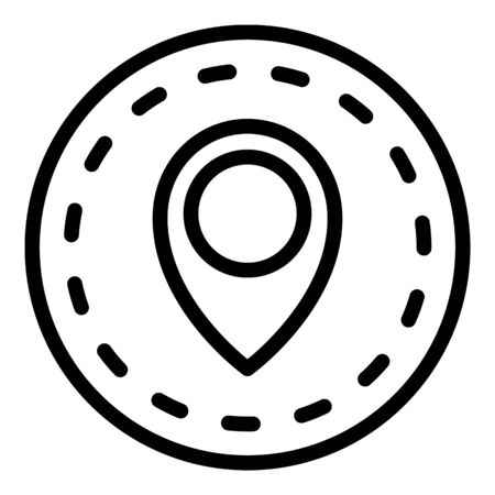 Import location icon, outline style