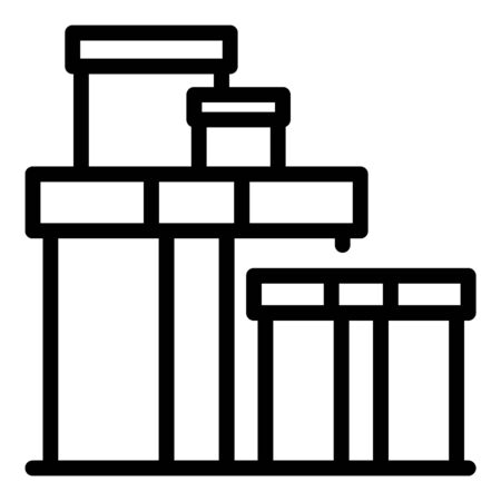 Carton relocation box icon, outline style