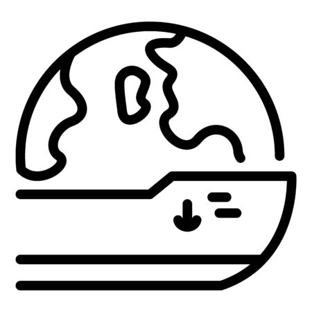 Global cargo icon, outline style