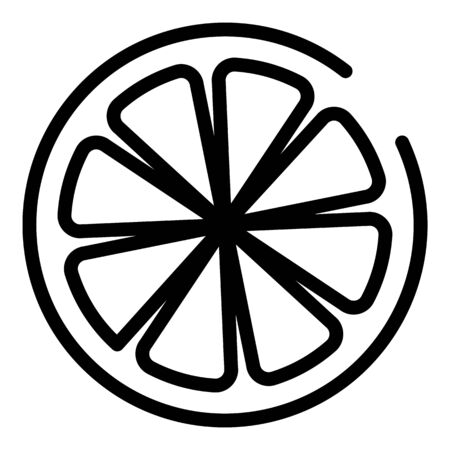 Half orange icon, outline style