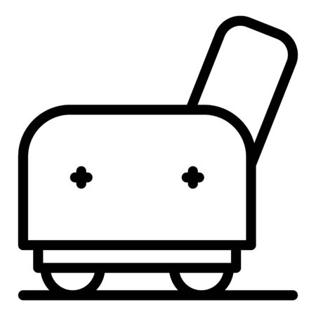 Armchair side icon, outline style