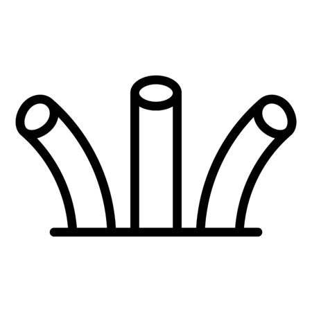 Cable end icon, outline style