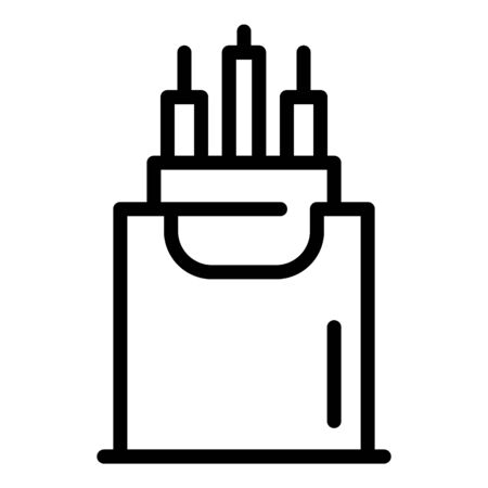 Internet cable icon, outline style  イラスト・ベクター素材