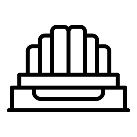 Stranded cable icon, outline style