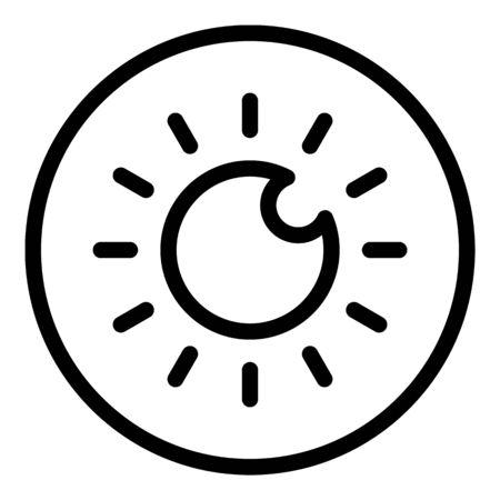 Retina icon, outline style