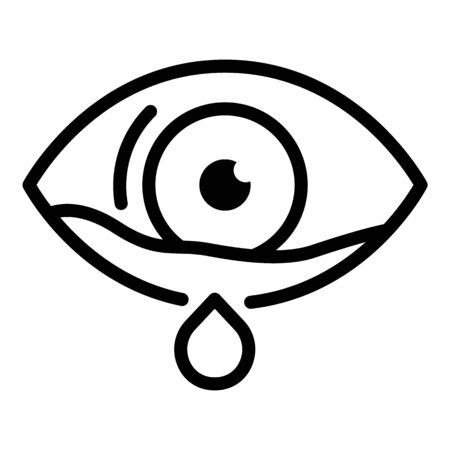 Crying eye icon, outline style